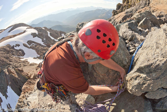 Your Humble Author Climbing Ingalls Peak