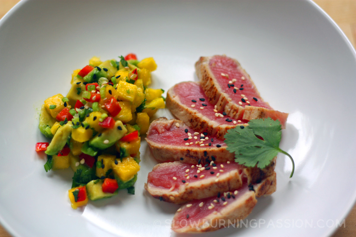 recipe: seared ahi tuna with mango chutney [2]