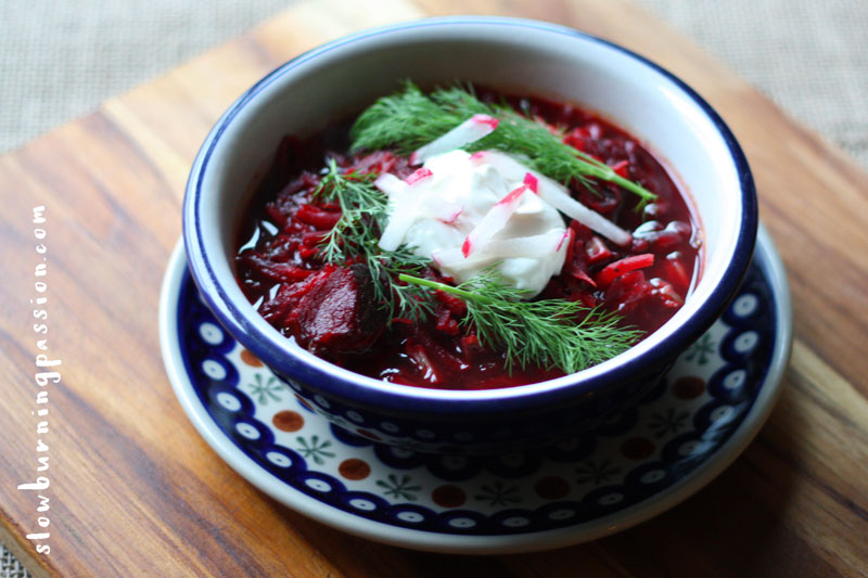 how to make beet soup from cooked beets