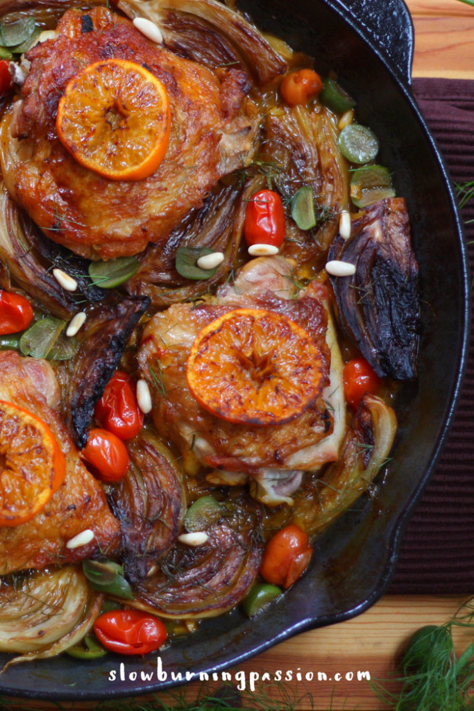 braised chicken with garlic and fennel recipe dishmaps braised chicken ...