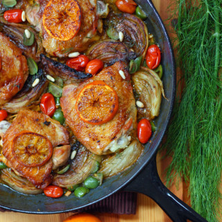 How to Make Mediterranean Orange-Fennel Braised Chicken