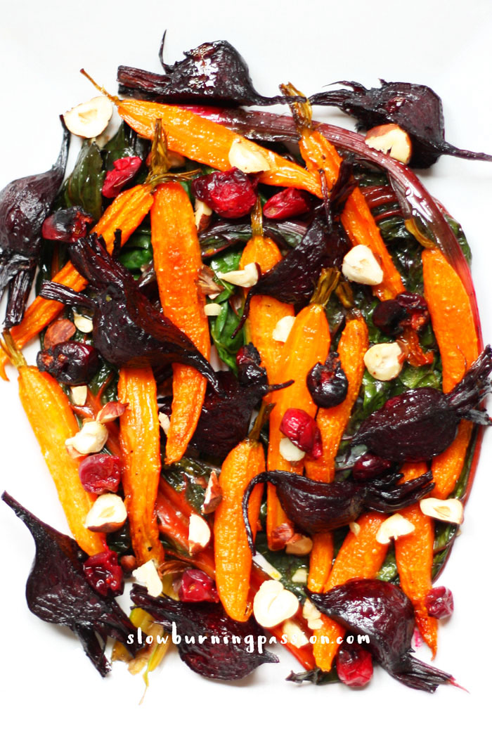 Roasted-Root-Vegetable-Salad-with-Wilted-Chard