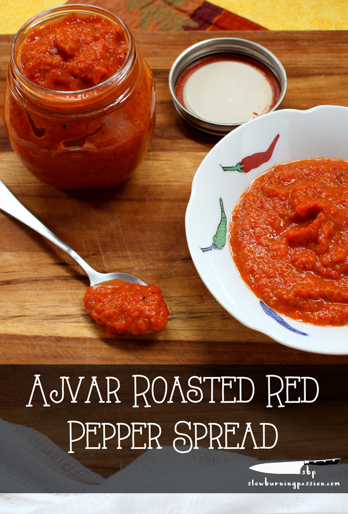 Ajvar Eggplant Roasted Pepper Spread is a ubiquitous relish in Serbia