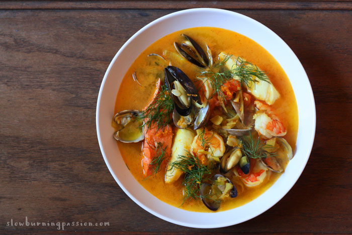 Bouillabaisse is a traditional Mediterranean fisherman's stew from the Provincial port city of Marseilles.