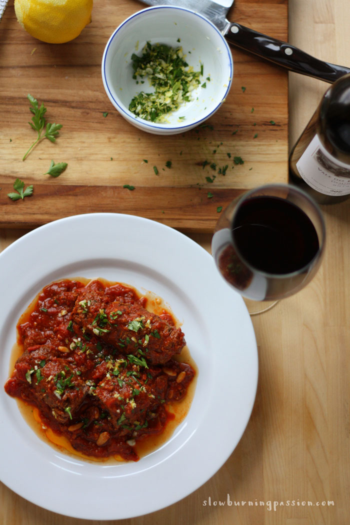 Italian Beef Braciole, typically called involtini in Italy, are little ...