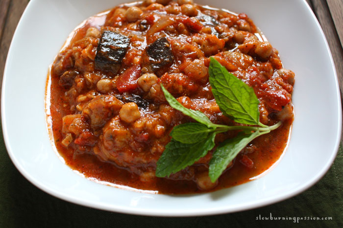 Maghmour the moussaka from lebanon that will make you happy maghmour is lebanons take on moussaka roasted eggplant tomatoes chickpeas olive oil forumfinder Image collections