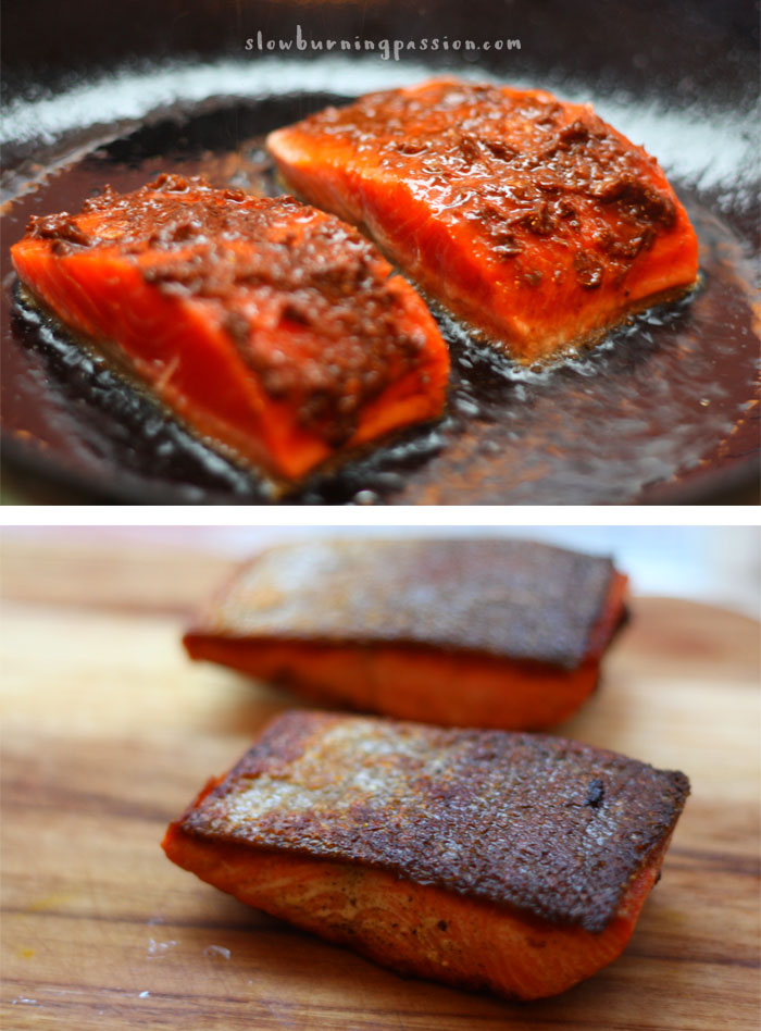 how to get a crispy skin on salmon