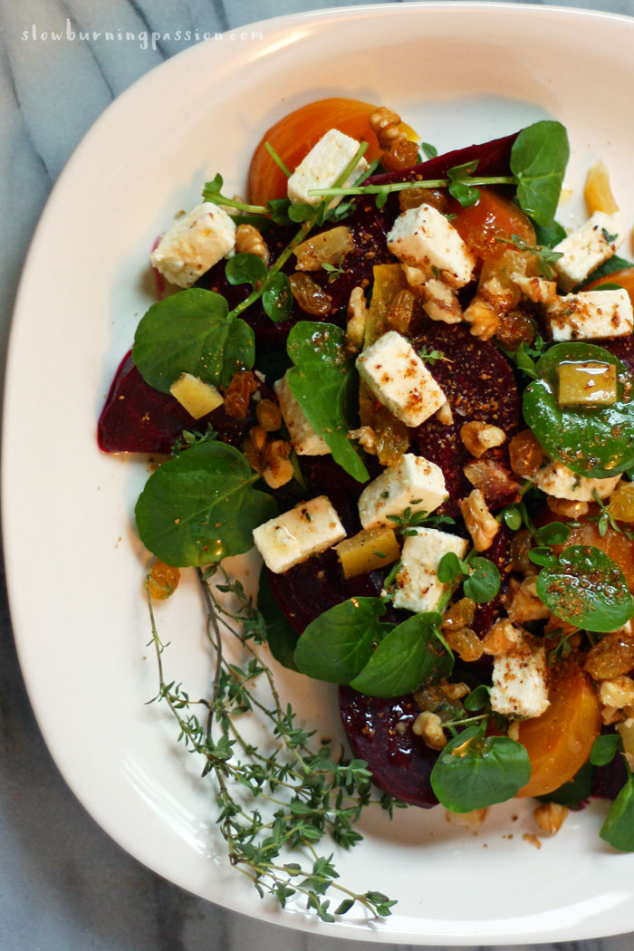 Roasted Beets With Citrus, Feta And Walnuts Recipe — Dishmaps