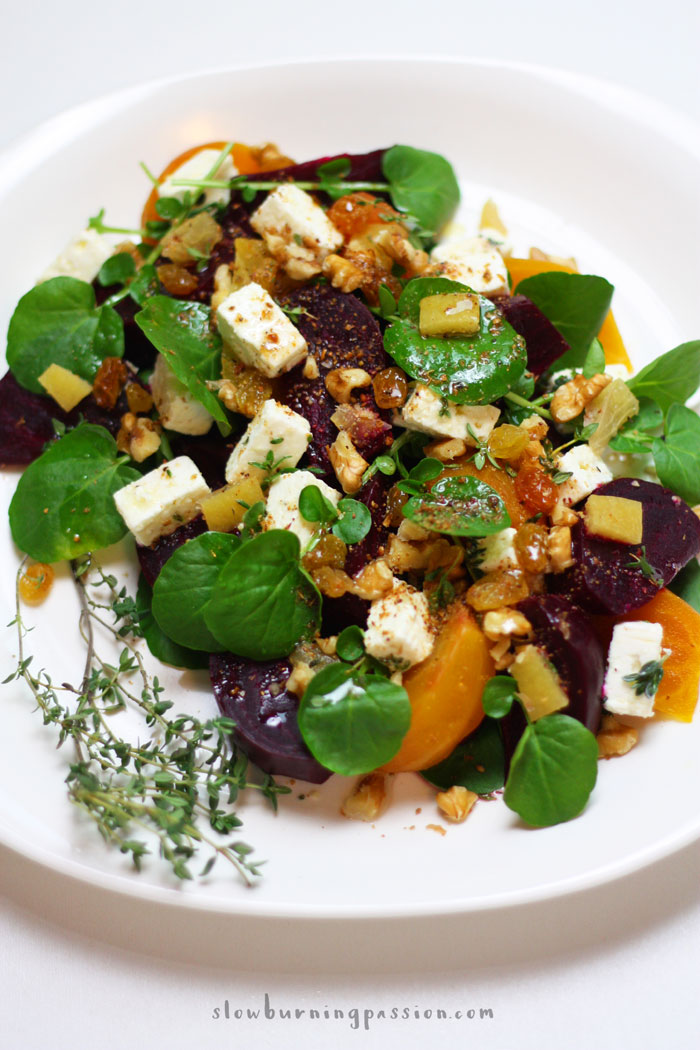 ... Winter Salad: Roasted Beet Salad with Watercress and Lemon Thyme Feta