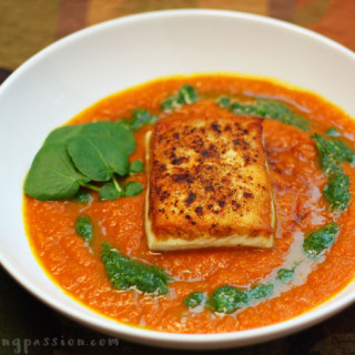 A Delicious but Simple Halibut and Carrot Ginger Puree