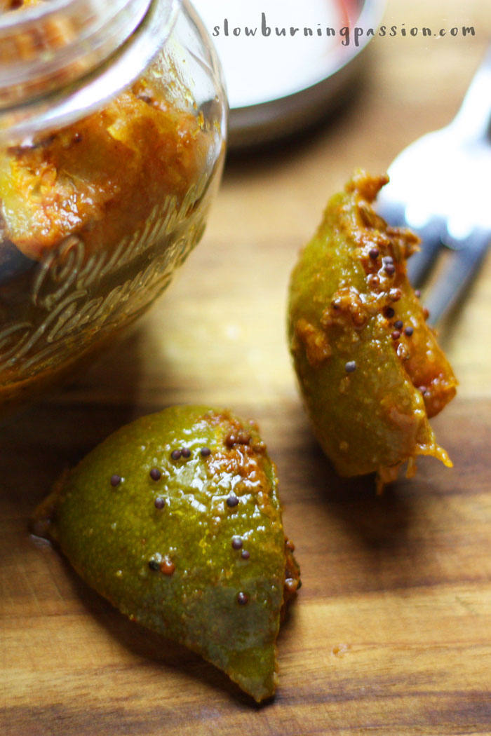 Nimbu Ka Achaar: An Indian Lime Pickle Recipe that's easy to make and good for for your gut microbiome.