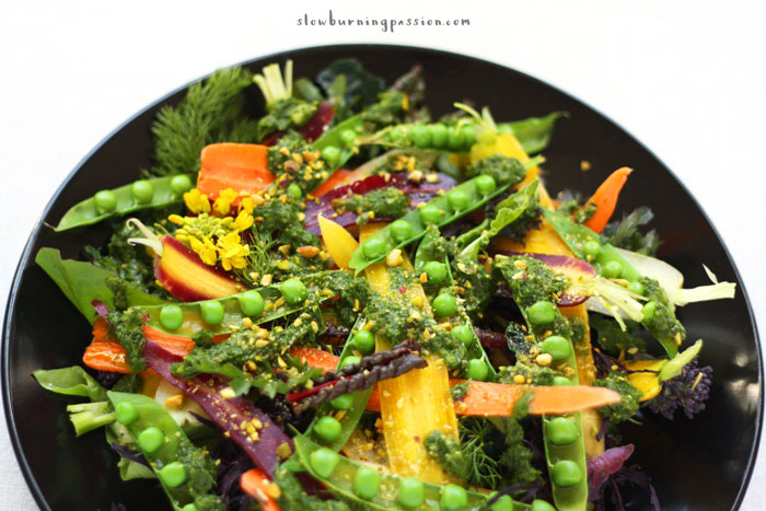 fresh carrot pea and mint salad recipes dishmaps fresh carrot pea ...