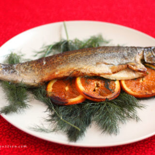 Amazing Lost in Space Baked Trout in a Hurry