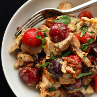 This Cherry-Pecan Tarragon Chicken Salad takes advantage of fresh Bing cherries, which are cheap, abundant, and in season in the Pacific Northwest right now.