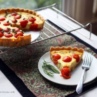 Roasted Garlic Tomato Quiche is Crazy Good