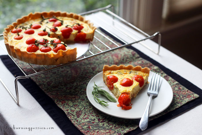 Custard is good. And pie is good. And custard pie? Custard pie is quiche. And quiche is really good. And so is roasted garlic. But roasted garlic tomato quiche? Whoa. Roasted Garlic Tomato Quiche is crazy good.