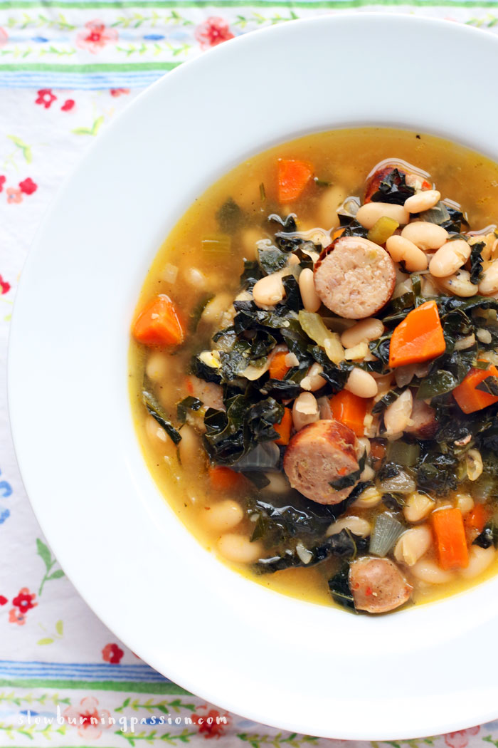 Tuscan sausage and kale soup is hearty, satisfying winter comfort food at its finest.