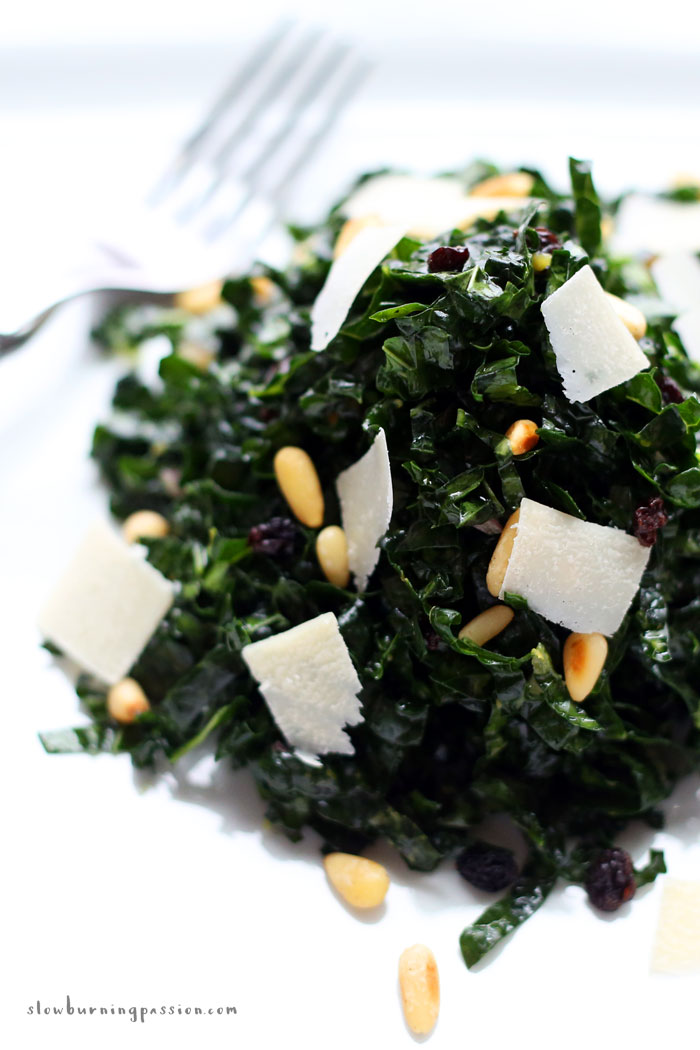Bright, lemony, Cardroom Kale Salad, an homage to Portland, Oregon's Lotus Cafe and Cardroom.