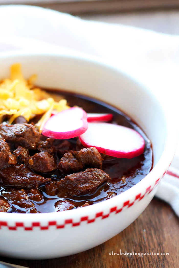 Bowl of Red with Cheddar Cheese Texas Chili Project