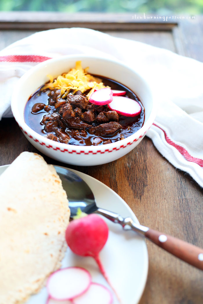 Bowl of Red with Tortillas