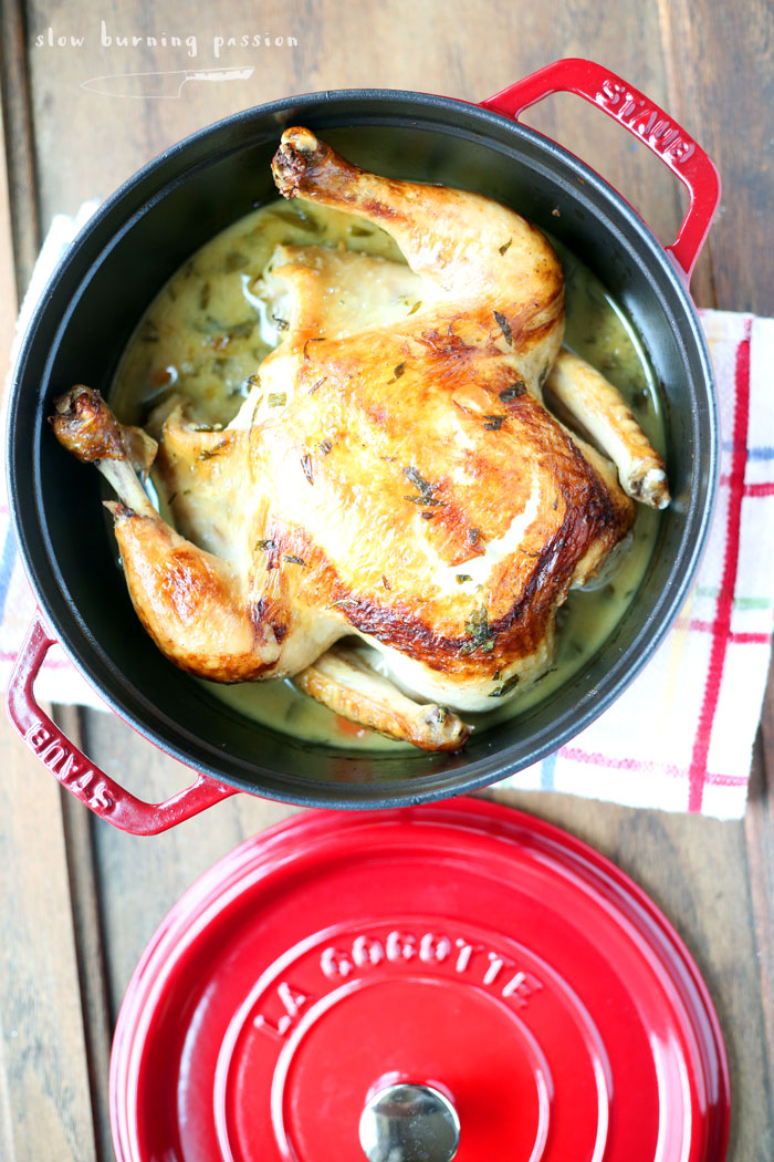 New Staub Dutch Oven with Tarragon Chicken